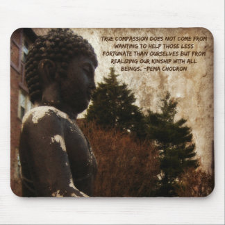 Buddha & Compassion Quote Mouse Pad