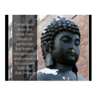 Buddha & Compassion Quote Postcard