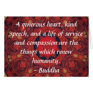 Buddha  compassion QUOTE QUOTATION Card