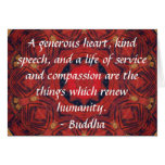 Buddha  compassion QUOTE QUOTATION Greeting Card