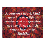 Buddha  compassion QUOTE QUOTATION Postcard