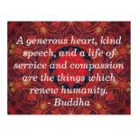 Buddha  compassion QUOTE QUOTATION Postcard