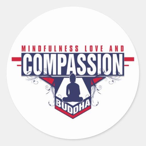 Buddha Compassion Round Sticker