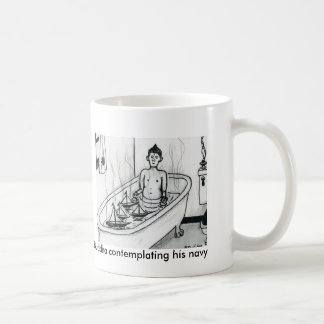 Buddha contemplating his navy mug