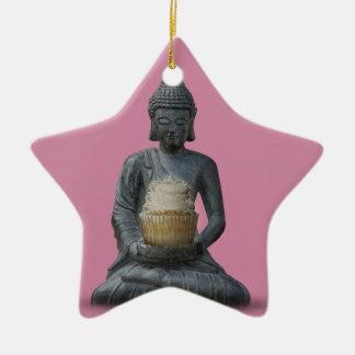 Buddha Cupcake Enlightenment Ceramic Ornament