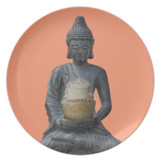 Buddha Cupcake Enlightenment Melamine Plate
