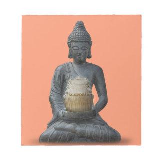 Buddha Cupcake Enlightenment Notepad