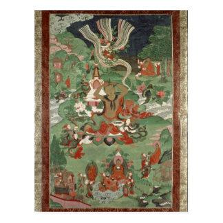Buddha cutting a tuft of hair postcard