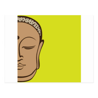 Buddha design postcard