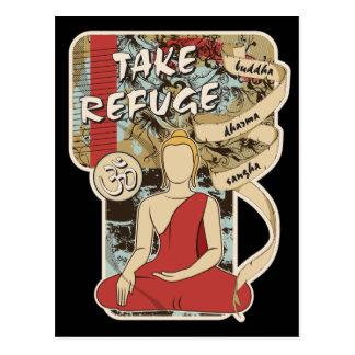 Buddha, Dharma and Sangha Postcard
