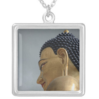 Buddha Dordenma statue Silver Plated Necklace