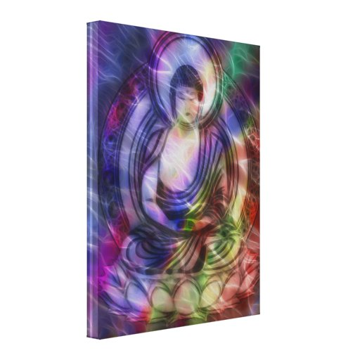 Buddha Energy 3 Gallery Wrapped Canvas