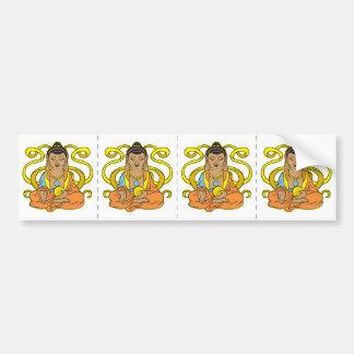 Buddha Energy Flow Bumper Sticker