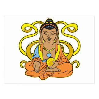 Buddha Energy Flow Postcard