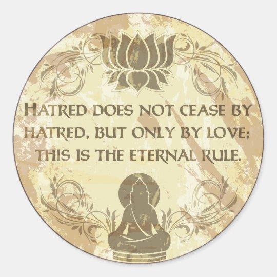 Buddha Eternal Rule Classic Round Sticker