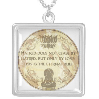 Buddha Eternal Rule Square Pendant Necklace