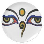 Buddha Eyes Art Plate