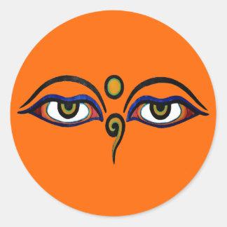 Buddha Eyes Art Sticker