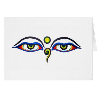 Buddha Eyes Greeting Card