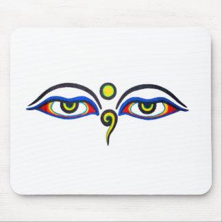 Buddha Eyes Mouse Pad