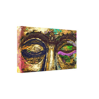 Buddha Eyes Psychedelic Pop Art Canvas Print