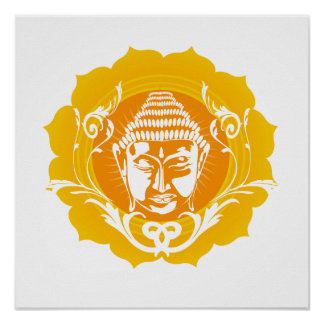Buddha Face Art Posters