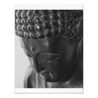buddha face card