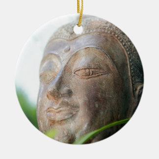 Buddha Face Ceramic Ornament