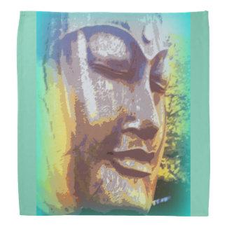 buddha face green bandana