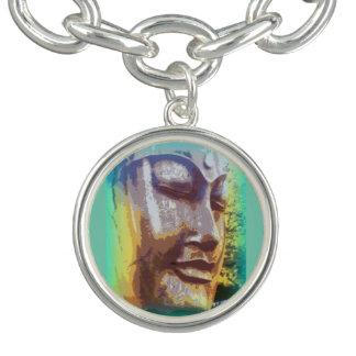 buddha face green charm bracelets