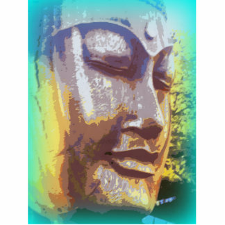 Buddha face green cutout