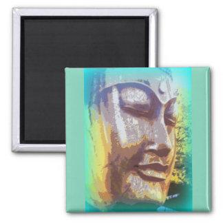 buddha face green magnet