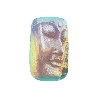 Buddha face green  Minx® nail art