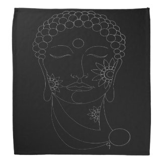 BUDDHA FACE ON BLACK Bandana