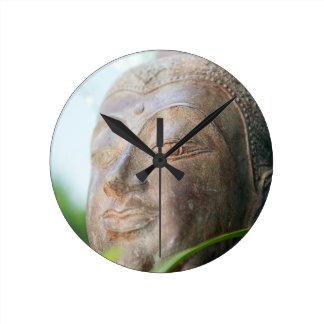 Buddha Face Round Clock
