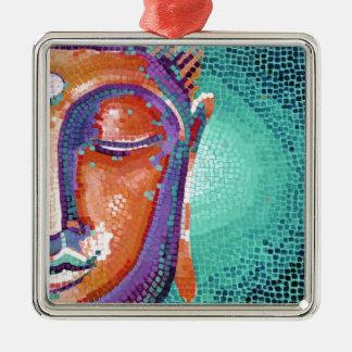 Buddha Face Tan Color Metal Ornament