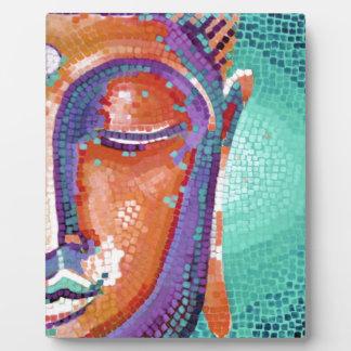 Buddha Face Tan Color Photo Plaque