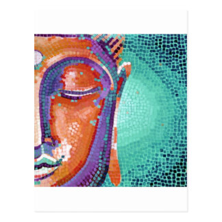 Buddha Face Tan Color Postcard