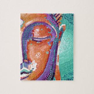 Buddha Face Tan Color Puzzle