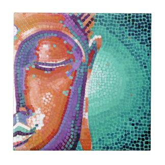 Buddha Face Tan Color Small Square Tile