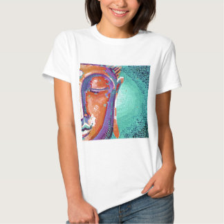 Buddha Face Tan Color Tee Shirt