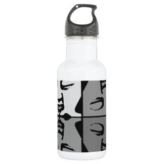 Buddha faces stainless steel water bottle
