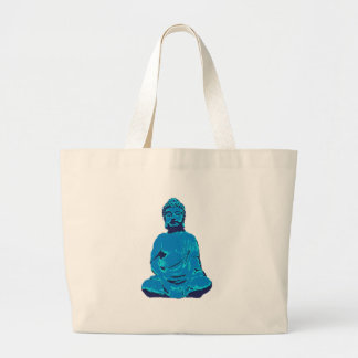 Buddha figure large tote bag