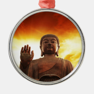 Buddha flame metal ornament