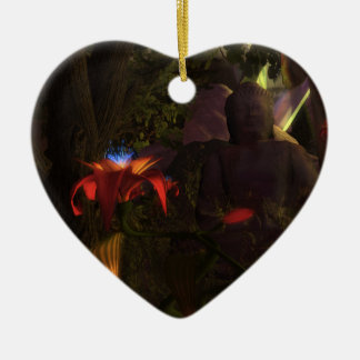 Buddha Flower Christmas Ornament