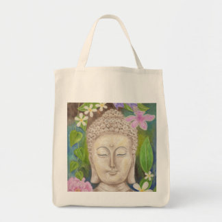 Buddha Flower grocery bag