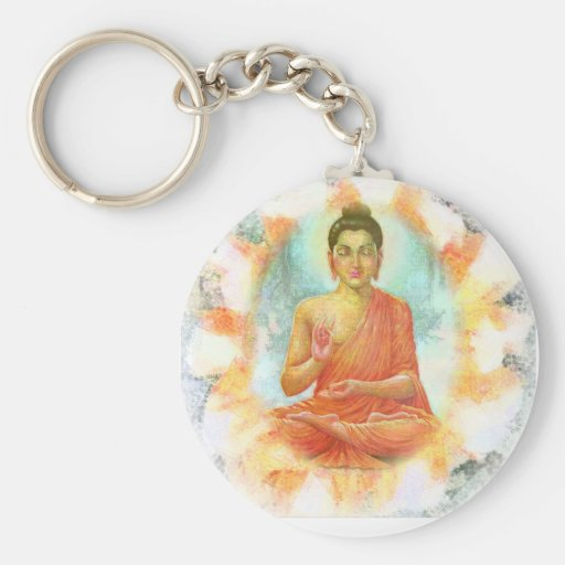 Buddha Flower Keychain