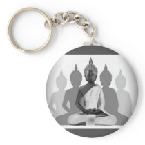 Buddha & Four Silhouettes Keychain