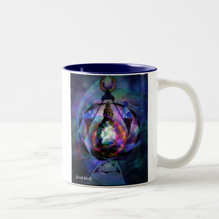 Buddha Gate Two-Tone Coffee Mug