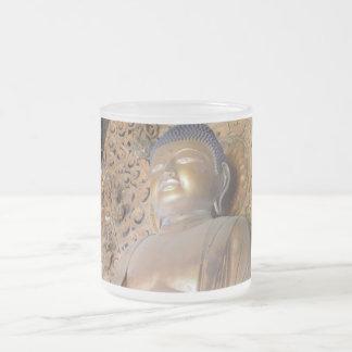 Buddha Giftware 10 Oz Frosted Glass Coffee Mug